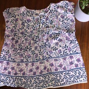 Floral T-shirt Blouse
